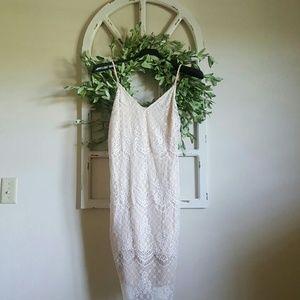 Lace, Knee-Length Dress